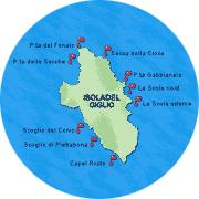 Immersioni subacquee presso l'Isola del Giglio